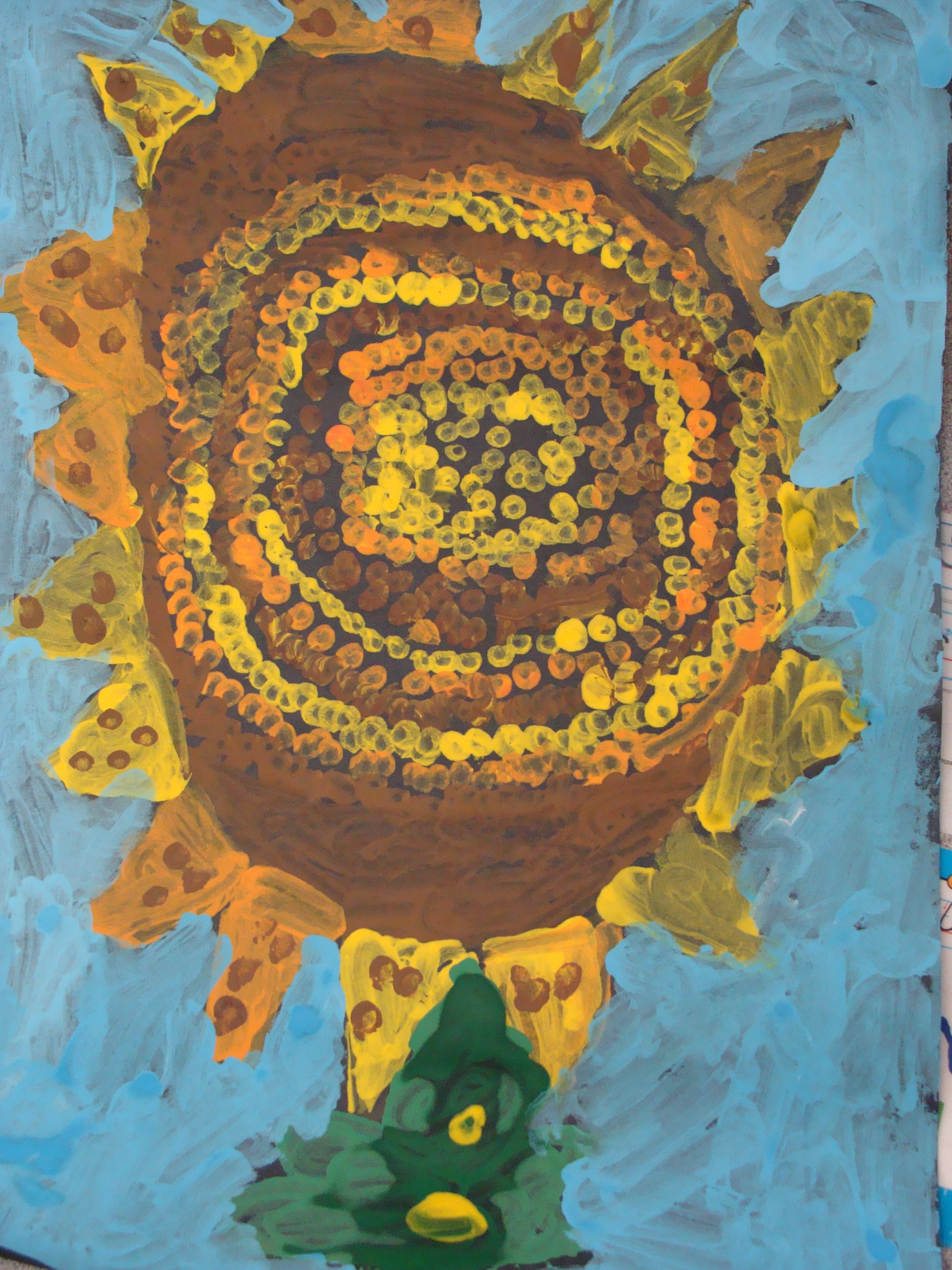 The 1st Grade Sun Flower Painting Art Gallery Dedicated To Vincent Van Gogh